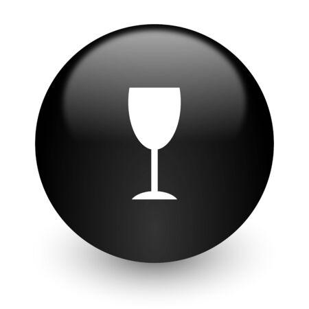 champain: black glossy computer icon
