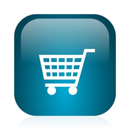 blue glossy web icon photo