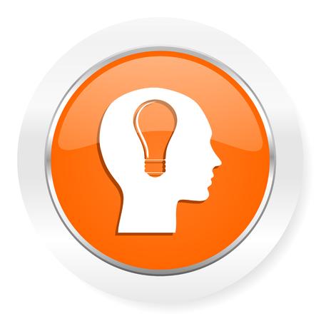 keen: orange computer icon
