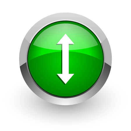 sterring: green glossy web icon