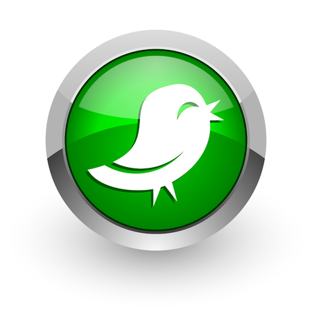 pushbuttons: green glossy web icon