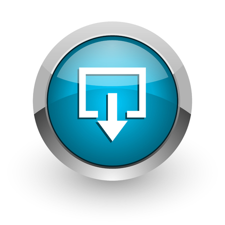 way out: blue glossy web icon