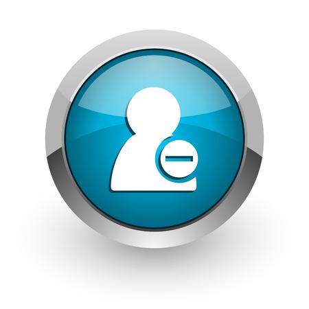 blue glossy web icon