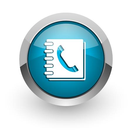 phonebook: blue glossy web icon