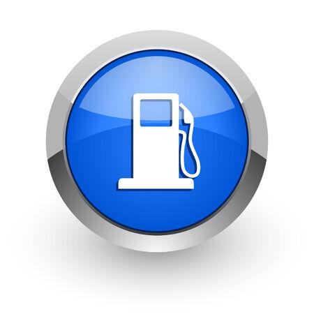 bio diesel: blue glossy web icon