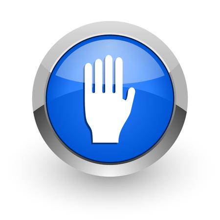 the coachman: blue glossy web icon