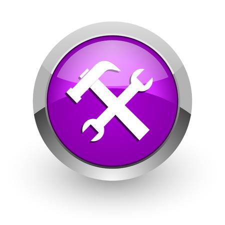 pink glossy web icon photo
