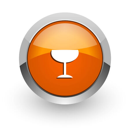 champain: orange glossy web icon
