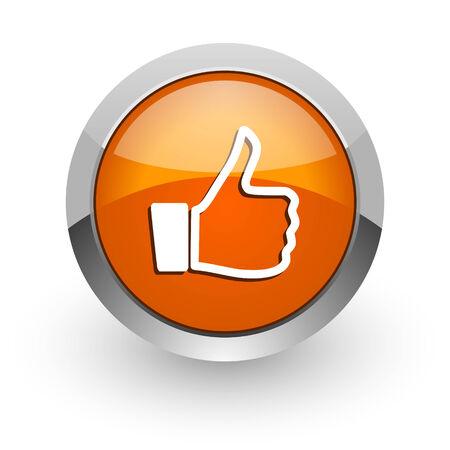 i like: orange glossy web icon