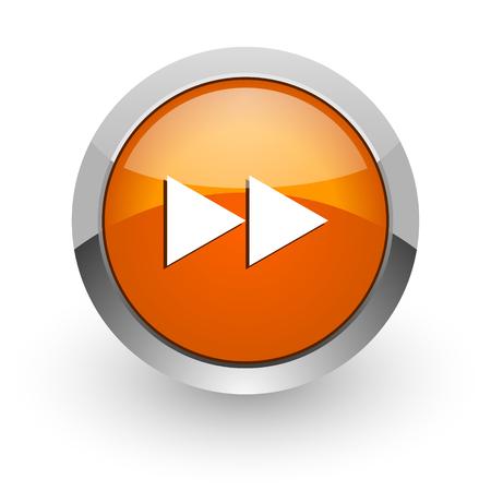orange glossy web icon photo