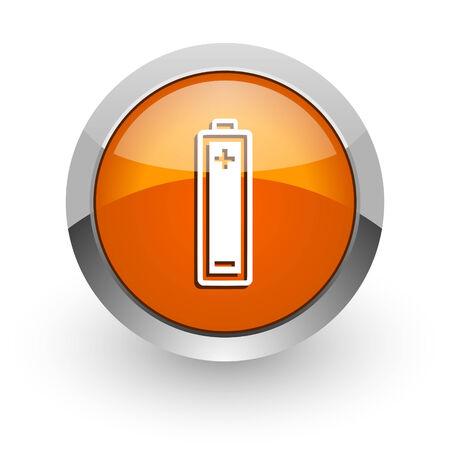 accuse: orange glossy web icon