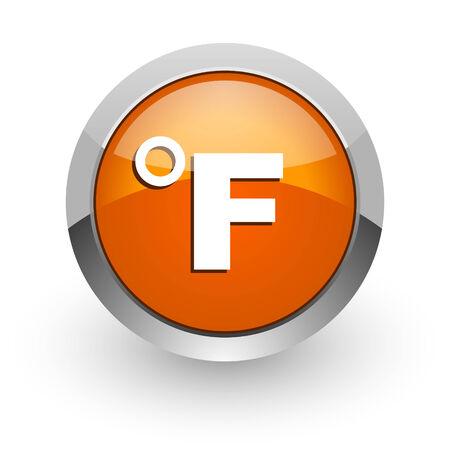 celcius: orange glossy web icon