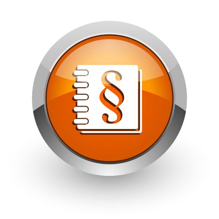 injustice: orange glossy web icon