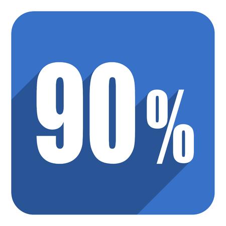 90: 90 percent flat  icon Stock Photo