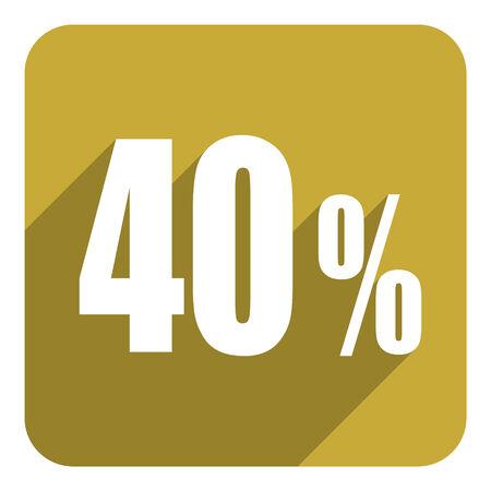 40: 40 percent  flat  icon