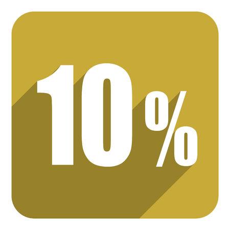 10 key: 10 percent flat  icon