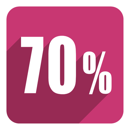 70: 70 percent flat  icon Stock Photo