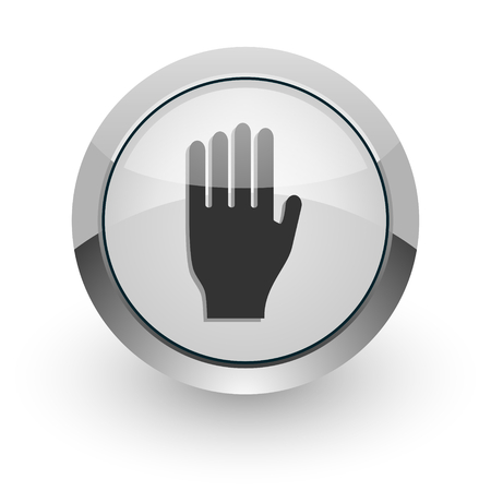 the coachman: silver chrome glossy web icon