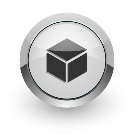 silver chrome glossy web icon photo