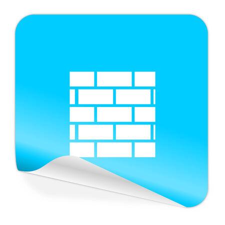 blue sticker icon photo