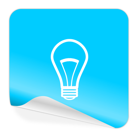 blue sticker icon photo