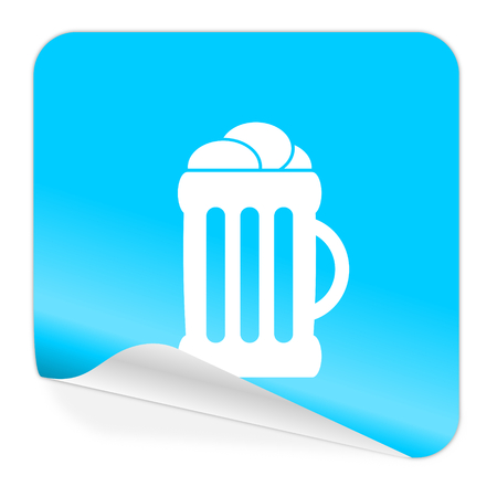 cereal bar: blue sticker icon