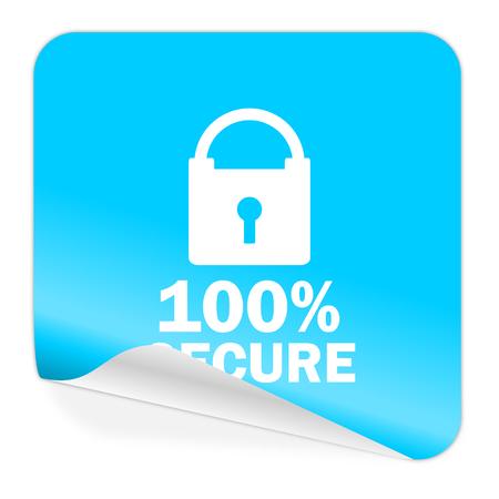 trustworthy: blue sticker icon