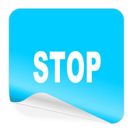 proscribed: blue sticker icon
