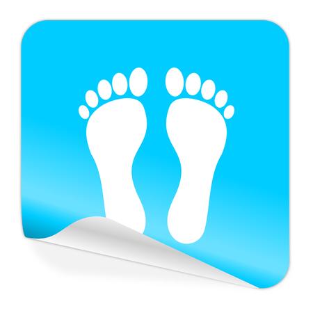 toe tag: blue sticker icon