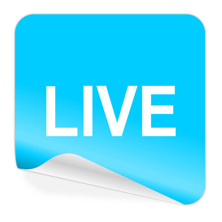 news cast: blue sticker icon