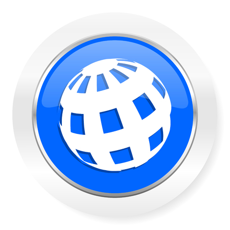 parallels: blue glossy web icon