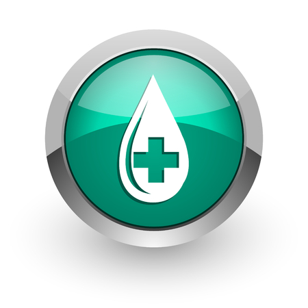 bleed: blood green glossy web icon