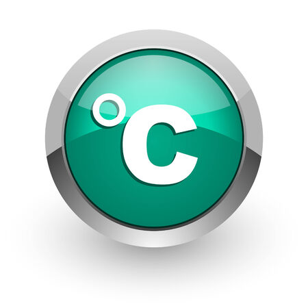 celsius: celsius green glossy web icon
