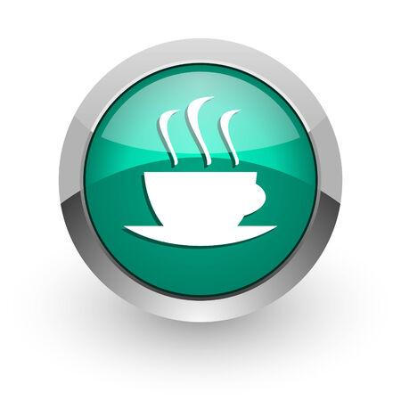 espresso green glossy web icon  photo