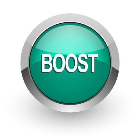 boost: boost green glossy web icon
