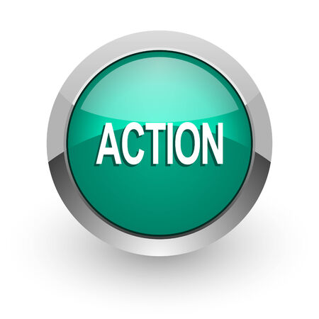 action green glossy web icon  photo