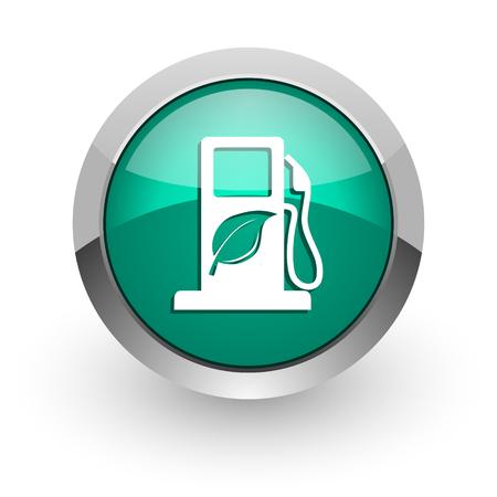 biofuel green glossy web icon  photo