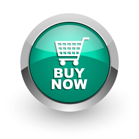 buy now: buy now green glossy web icon  Stock Photo