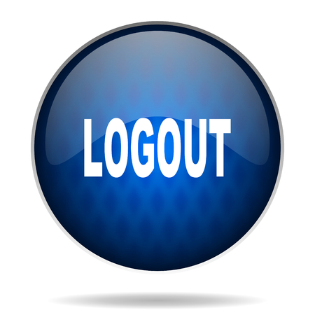 Log Out: glossy circle internet icon