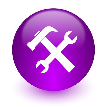 glossy circle internet icon