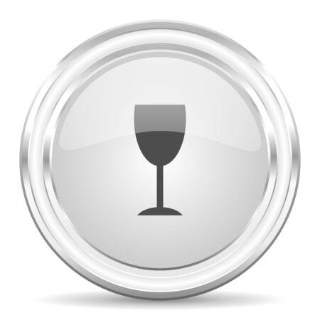 champain: glossy circle internet icon