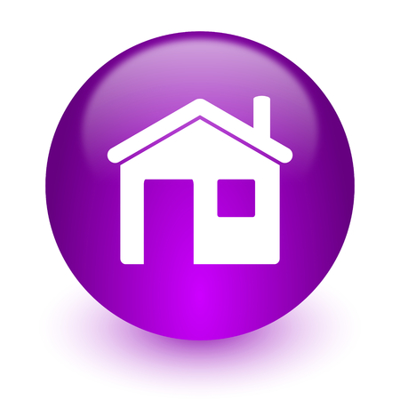 violet residential: glossy circle internet icon