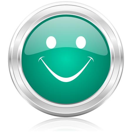 new yea: green glossy internet icon