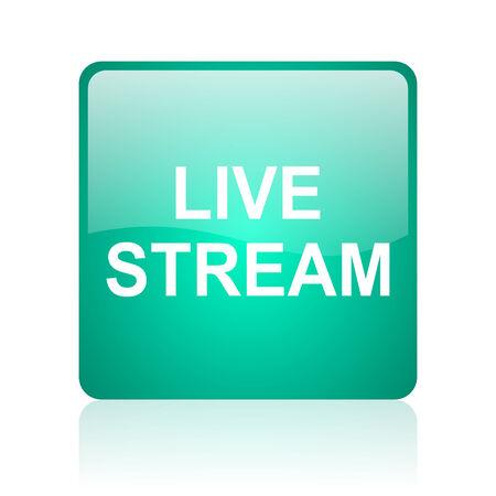 live stream sign: glossy web icon