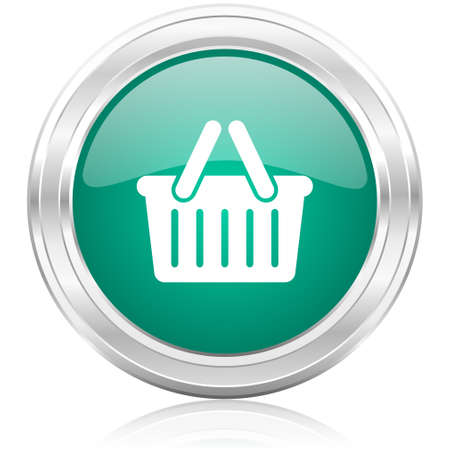 green glossy internet icon photo