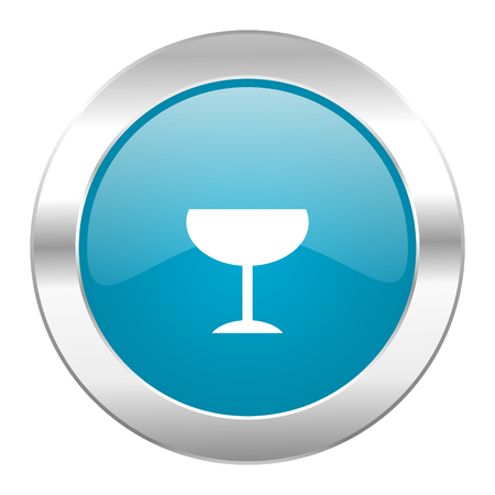 champain: internet blue icon on white background