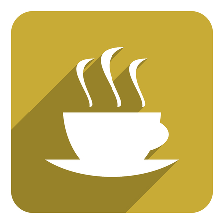 coffee cup flat icon photo