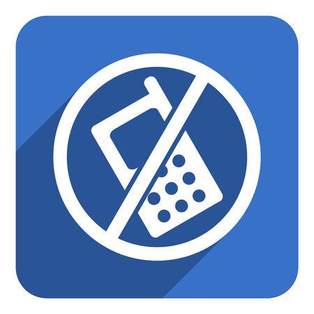 no phone flat icon photo