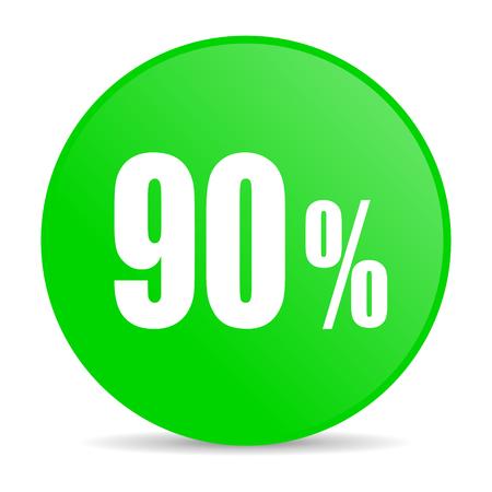 90: 90 percent internet icon  Stock Photo