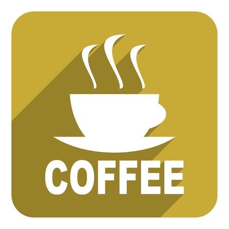 coffee cup flat icon photo